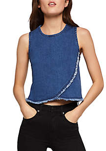 06907ba73b19 BCBGeneration Mixed Stripe Surplice Top · BCBGeneration Pintuck Lace Woven Top  BCBGeneration Pintuck Lace Woven Top · BCBGeneration Frayed Edge Denim Top
