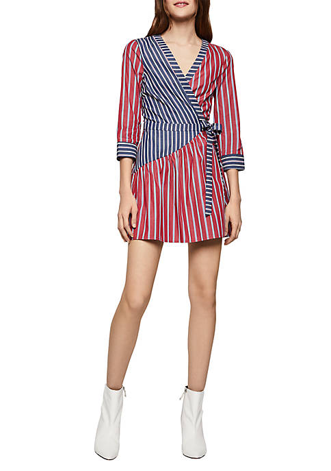 BCBGeneration Stripe Wrap Dress