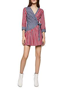 BCBGeneration Stripe Wrap Dress