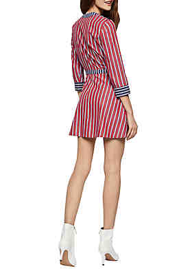 965476a44b9 BCBGeneration Stripe Wrap Dress BCBGeneration Stripe Wrap Dress