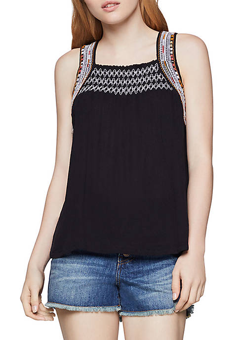 BCBGeneration Embroidered Band Tank Top