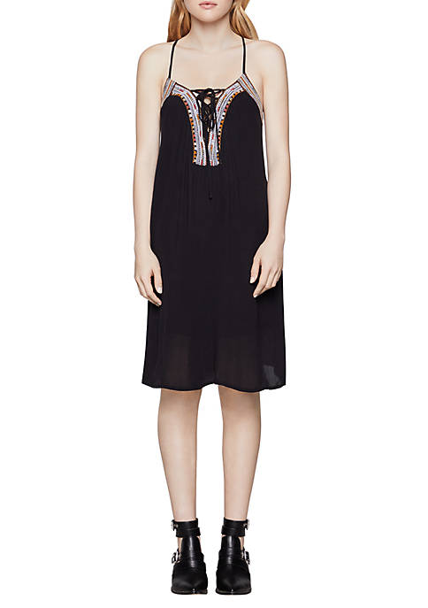 BCBGeneration Embroidered A-Line Tank Dress