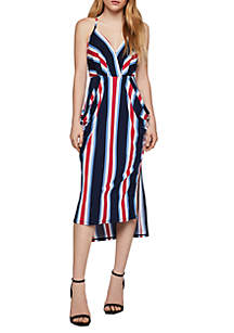 2477f7dc2196 BCBGMAXAZRIA Botanical Garden Shift Dress · BCBGeneration Bold Stripe  Surplice Midi Dress