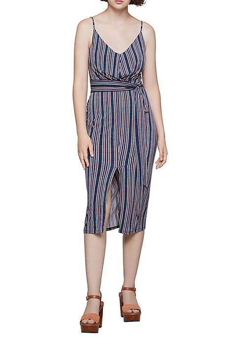 BCBGeneration Wrap Striped Tank Dress
