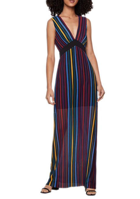 BCBGeneration Womens Striped Maxi Dress