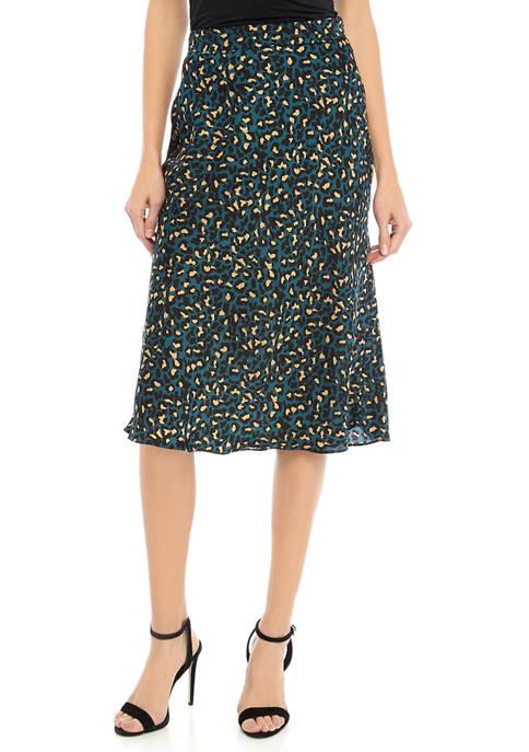 BCBGeneration Womens Leopard Printed Mini Skirt