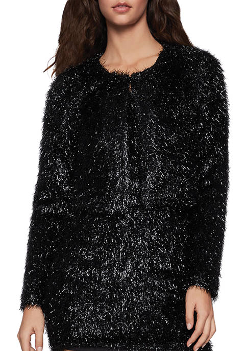 BCBGeneration Womens Fuzzy Crop Jacket