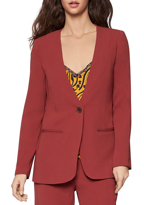BCBGeneration Womens Single Button Blazer