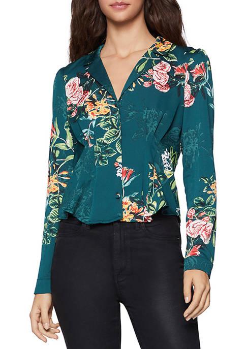 BCBGeneration Womens Vintage Long Sleeve Top