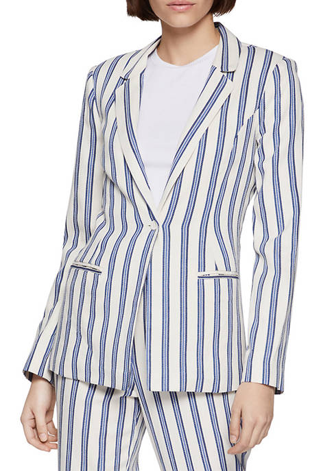 BCBGeneration Womens Striped Blazer