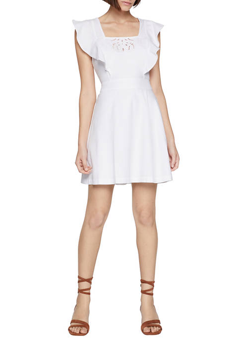 BCBGeneration Womens Embroidered Apron Dress