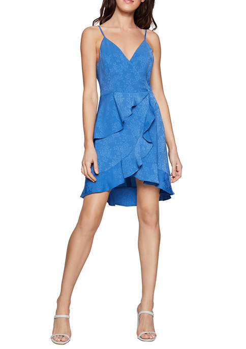 BCBGeneration Womens Ruffled Camisole Mini Dress