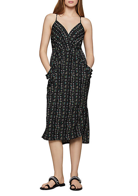 BCBGeneration Matchsticks Surplice Midi Dress