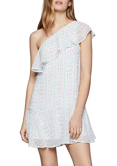 BCBGeneration One Shoulder Ruffle Dress