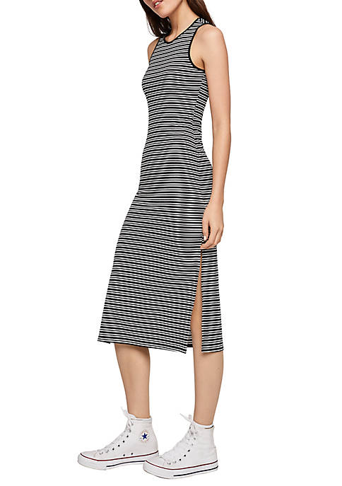 BCBGeneration Striped Tank Midi Dress