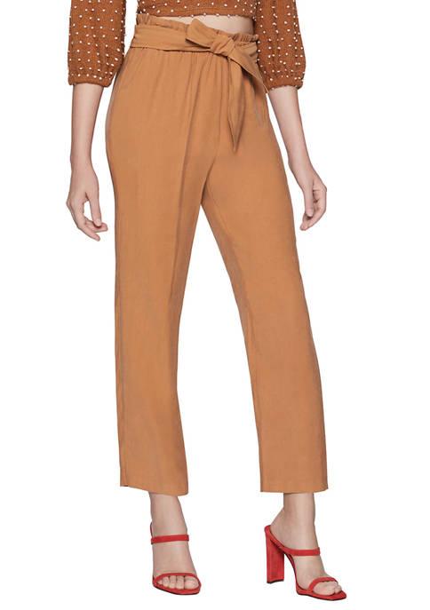 Womens Paperbag Waist Pants