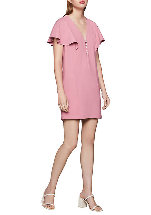 BCBGeneration Womens Flutter Sleeve Shift Dress