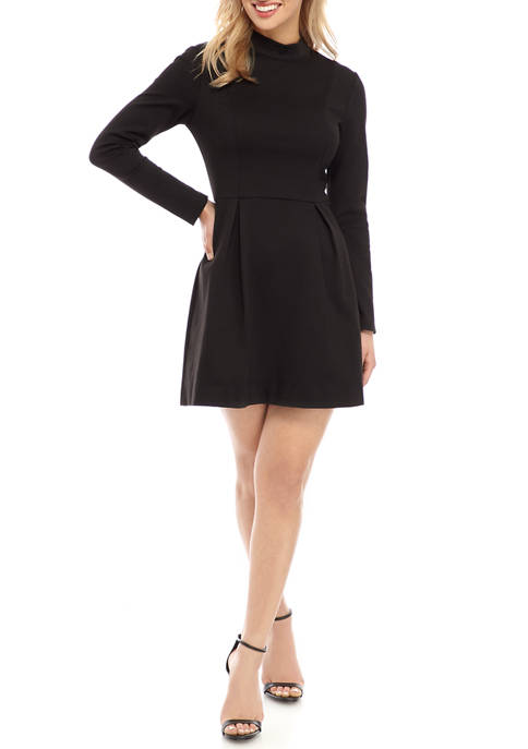 BCBGeneration Womens Long Sleeve Knit Day Dress