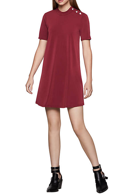 Womens Mock Neck Dress