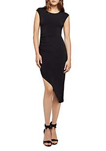 Cap Sleeve Asymmetrical Dress
