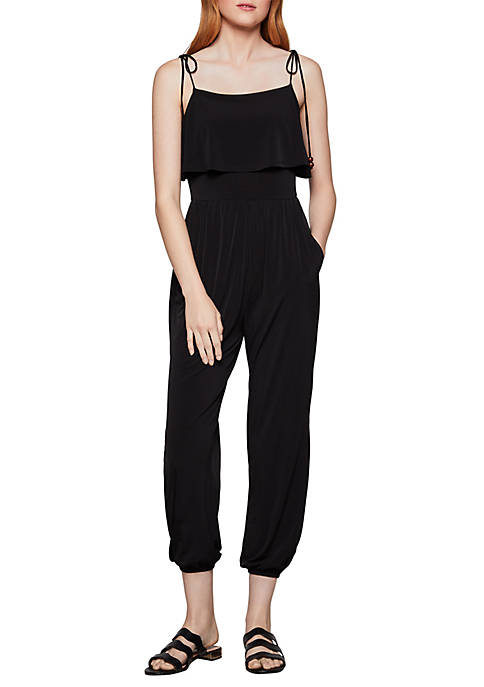 BCBGeneration Tie Shoulder Jumpsuit