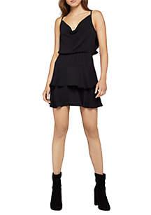 Tie Back Ruffle Mini Dress