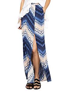 Tie Dye Lace Maxi Skirt