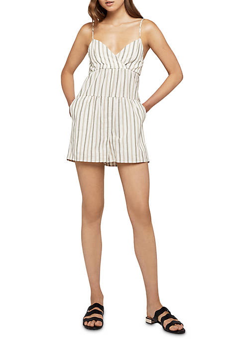 BCBGeneration Stripe Tier Romper