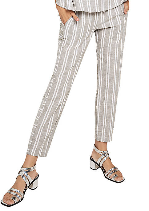 BCBGeneration Stripe Wide Leg Crop Capris