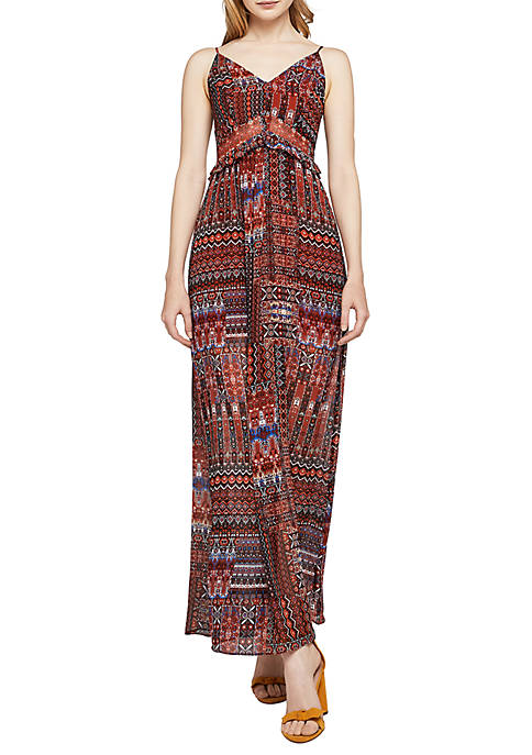 BCBGeneration Ruffle Printed Maxi Dress