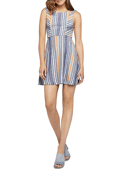 BCBGeneration Stripe Fit and Flare Dress