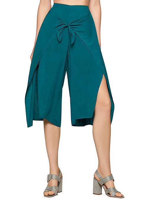 BCBGeneration Tie Front Crop Pants
