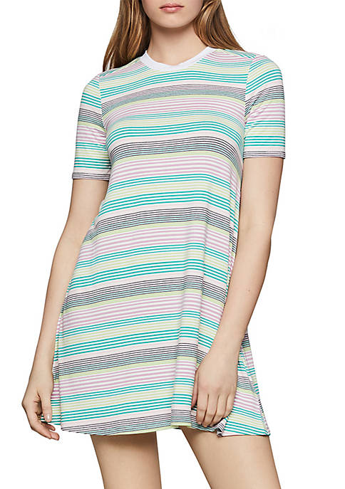 BCBGeneration Multicolor Stripe Tee Dress