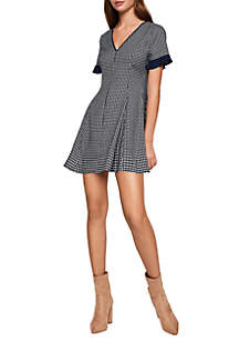 Checked Flare Dress