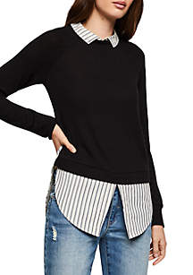 82dba7946da0 ... BCBGeneration Twofer Long Sleeve Knit Top