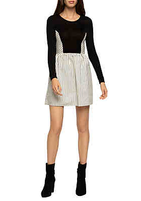 44171c02f24a1d BCBGeneration Striped Mixed Media Dress ...