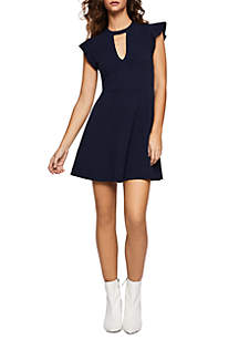 Short Flutter Sleeve Dress