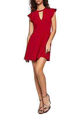5c2cbf4f1cd BCBGeneration Short Flutter Sleeve Dress ...