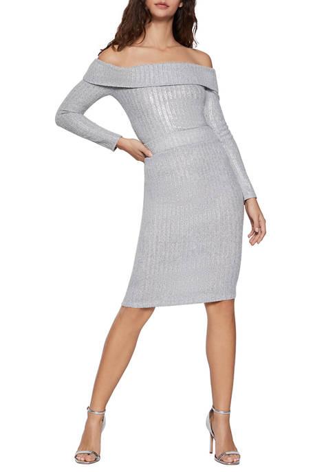 BCBGeneration Womens Metallic Pencil Skirt