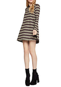 Lurex Stripe A-Line Dress