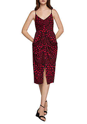 32fed5c63f30 BCBGeneration Knot-Front Printed Cami Dress ...