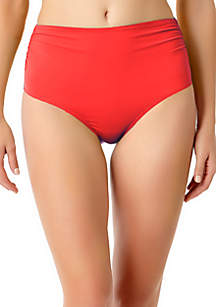 Live In Color Hi Waist Shirred Bottom