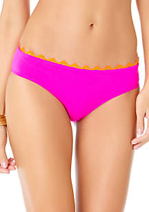 Ric Rac Solid Hipster Swim Bottoms