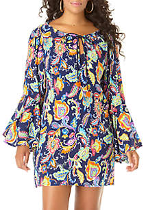 04776b38430 ... Anne Cole® Paisley Swim Tunic Cover Up