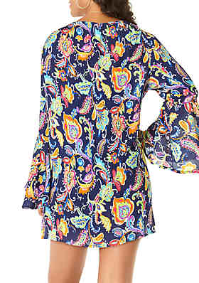 7ee303b96fc67 ... Anne Cole® Paisley Swim Tunic Cover Up