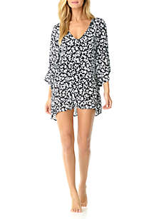 644d83b7407f3 ... Anne Cole® V-Neck Flounce Swim Cover Up
