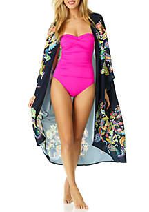 355027a830667 ... Anne Cole® Paisley Open Front Swim Kimono