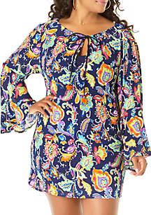 Anne Cole® Plus Size Paisley Swim Tunic