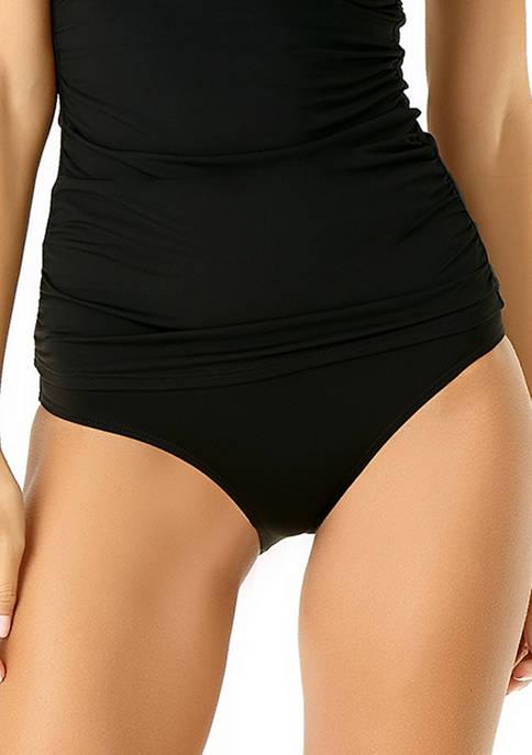 Anne Cole® High Waist Shirred Swim Bottom