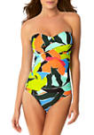 Liz Twisted Front Bandeau Swimsuit